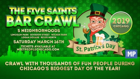 St Patrick's Day Bar Crawl: The Five Saints Crawl-MTT